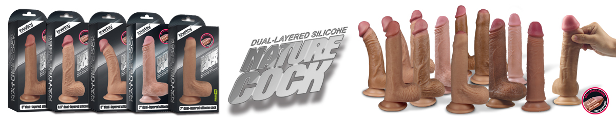 Dual layer silicone nature cock
